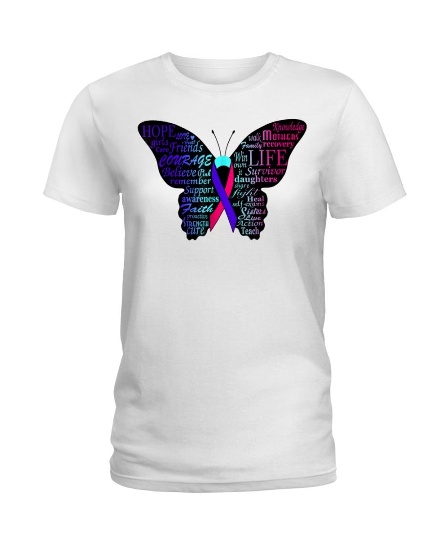 thyroid cancer awareness t shirt Ladies T-Shirt
