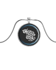 Aquarius Zodiac Fundamental Metallic Circle Necklace thumbnail