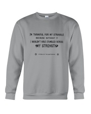 Struggle and Strength Crewneck Sweatshirt thumbnail