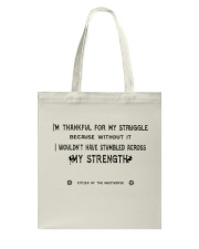 Struggle and Strength Tote Bag thumbnail