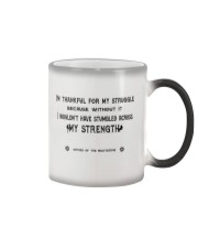 Struggle and Strength Color Changing Mug tile