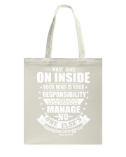 Paul Santisi Gear What Goes Inside Your Mind Tote Bag thumbnail
