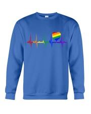 Raninbow Pride LGBTQ EKG Rainbow Heartbeat Crewneck Sweatshirt front
