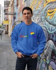 Raninbow Pride LGBTQ EKG Rainbow Heartbeat Crewneck Sweatshirt lifestyle-unisex-sweatshirt-front-2
