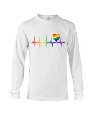 Raninbow Pride LGBTQ EKG Rainbow Heartbeat Long Sleeve Tee thumbnail