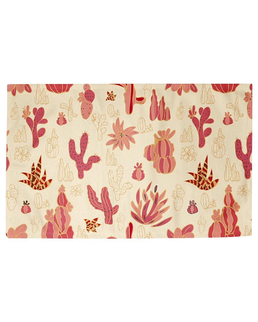 Red Cactus Woven Rug - 3' x 2'