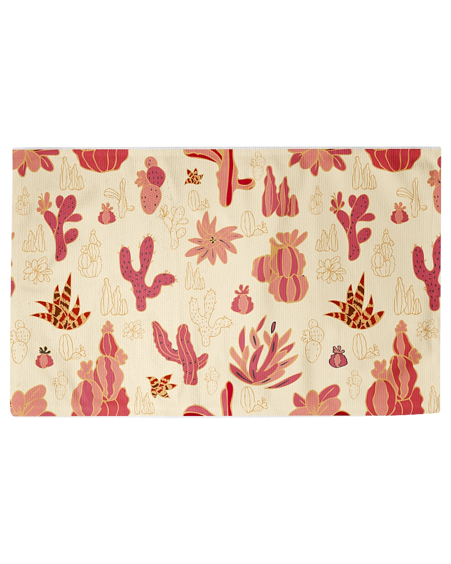 Red Cactus Woven Rug - 6' x 4'