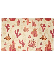Red Cactus Woven Rug - 6' x 4' front