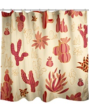 Red Cactus Shower Curtain thumbnail