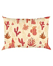Red Cactus Rectangular Pillowcase back