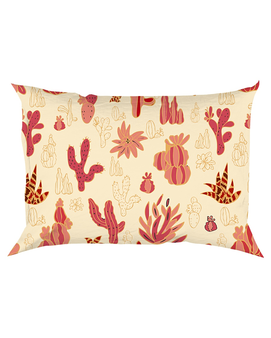 Red Cactus Rectangular Pillowcase