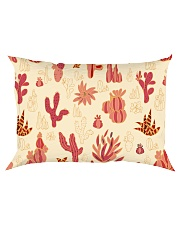 Red Cactus Rectangular Pillowcase front