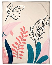 "Abstract Floral Small Fleece Blanket - 30"" x 40"" thumbnail"