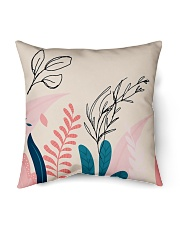"Abstract Floral Indoor Pillow - 16"" x 16"" thumbnail"