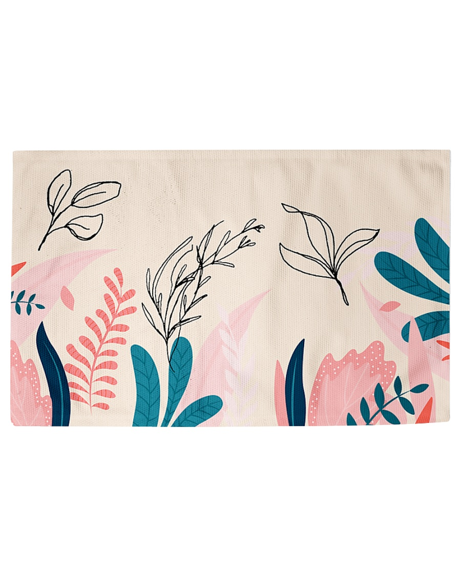 Abstract Floral Woven Rug - 3' x 2'