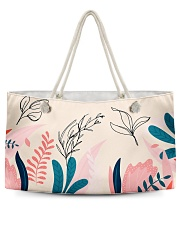 Abstract Floral Weekender Tote thumbnail