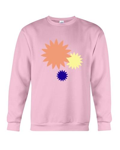 Simple colorful flowers illustration design