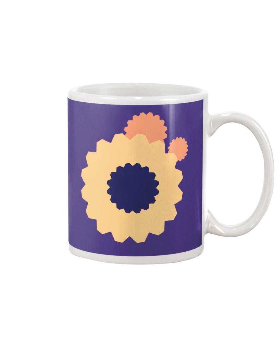 colorful flower design shape illustration Mug