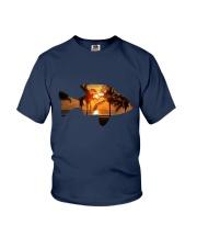 leisure FISHING AND TRAVEL ILLUSTRATION DESIGN Youth T-Shirt thumbnail