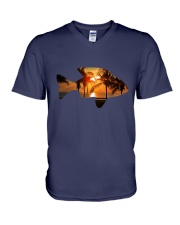 leisure FISHING AND TRAVEL ILLUSTRATION DESIGN V-Neck T-Shirt thumbnail