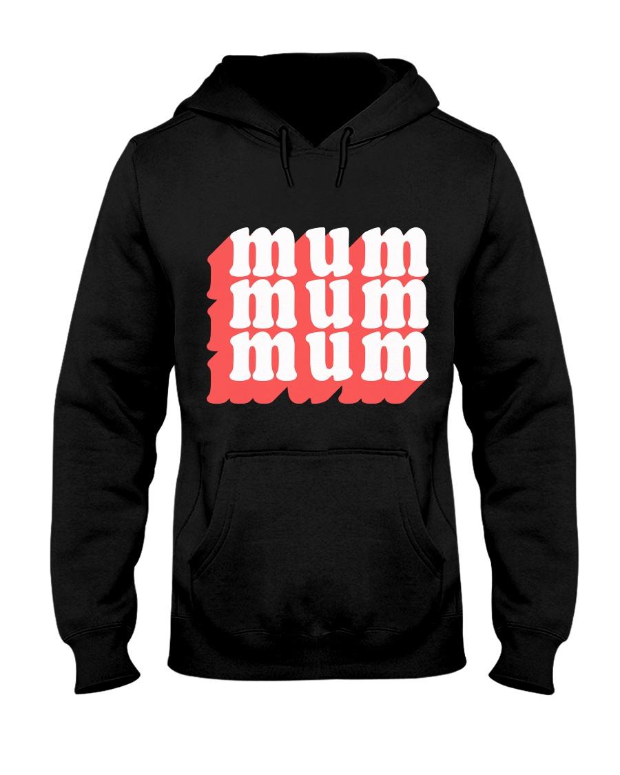 MUM MOM typography text illustration design Hooded Sweatshirt