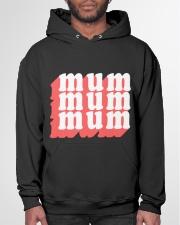 MUM MOM typography text illustration design Hooded Sweatshirt garment-hooded-sweatshirt-front-03