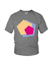colorful polygonal shape illustration design Youth T-Shirt thumbnail