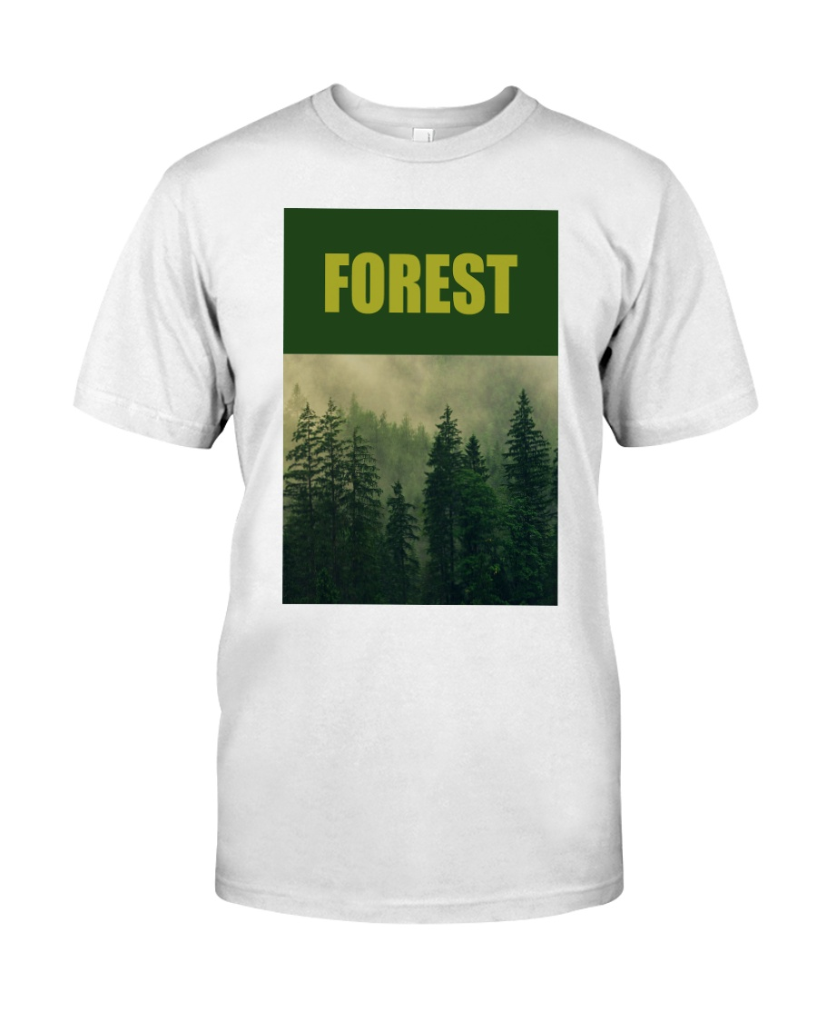 FOREST SHIRT TREE GREEN NATURE PROTECTION and camp Premium Fit Mens Tee