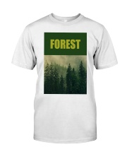 FOREST SHIRT TREE GREEN NATURE PROTECTION and camp Premium Fit Mens Tee front