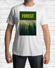 FOREST SHIRT TREE GREEN NATURE PROTECTION and camp Premium Fit Mens Tee lifestyle-mens-crewneck-front-1