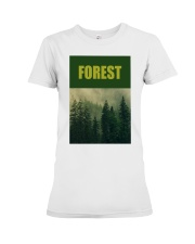 FOREST SHIRT TREE GREEN NATURE PROTECTION and camp Premium Fit Ladies Tee thumbnail