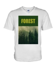 FOREST SHIRT TREE GREEN NATURE PROTECTION and camp V-Neck T-Shirt thumbnail