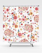 hedgehogs flowers Shower Curtain aos-shower-curtains-71x74-lifestyle-front-02