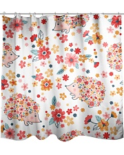 hedgehogs flowers Shower Curtain front