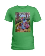 Peter Cottontail and cousins Ladies T-Shirt thumbnail