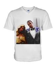 Jay-z And Beyonc V-Neck T-Shirt thumbnail