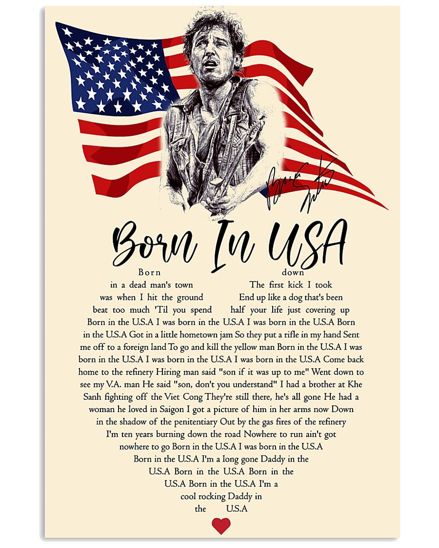 Bruce springsteen born in the USA Lyrics poster