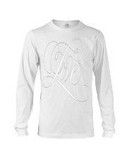 ELEGANT WHITE FLOURISHED LOVE VALENTINE Long Sleeve Tee front