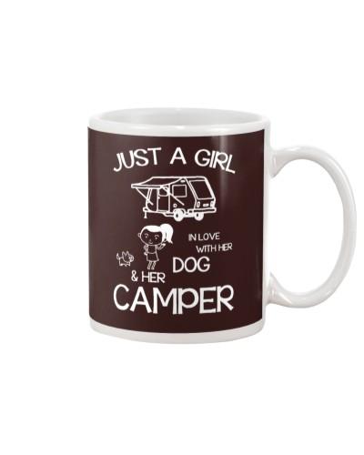Girl In Love Camper Dog