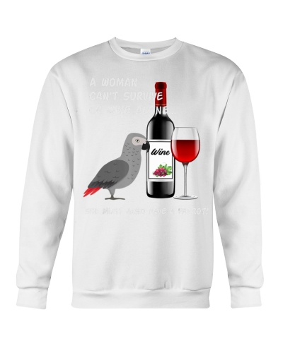 African Grey Parrot Wine Loving Drinking