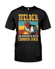 Welder An Engineer Welding Funny Vintag Classic T-Shirt front
