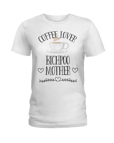 Bichpoo Mom Dog  Coffee Lover Gift Funny