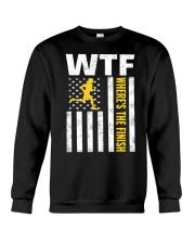 Mens WTF Wheres The Finish Running T-Sh Crewneck Sweatshirt thumbnail