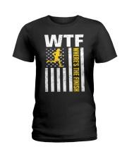 Mens WTF Wheres The Finish Running T-Sh Ladies T-Shirt thumbnail