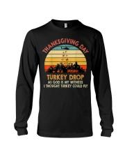 Turkey Drop Thanksgiving Gift Turkey  Long Sleeve Tee thumbnail