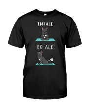 French Bulldog Yoga Inhale Exhale Funny D Classic T-Shirt front