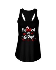 Earned-Not-Given-RN-Registered-Nurse-Shirt Ladies Flowy Tank thumbnail