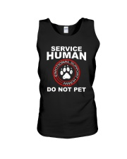 Funny-Dog-Owner-Emotional-Support-Human Unisex Tank thumbnail