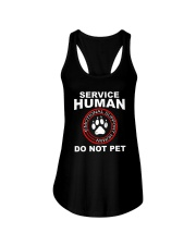 Funny-Dog-Owner-Emotional-Support-Human Ladies Flowy Tank thumbnail