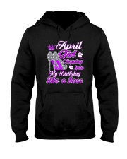 April-Girl-Stepping-Birthday-Like-a-Boss-April Hooded Sweatshirt thumbnail